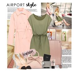 """""""Airport style"""" by polybaby ❤ liked on Polyvore featuring Max&Co., CalPak, BaubleBar, FOSSIL, Mansur Gavriel, Victoria Beckham, Kenneth Cole Reaction, NYX and airportstyle"""