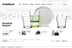 Crate & Barrel by Sam Dallyn #webdesign #design #designer #inspiration #user #interface #ui