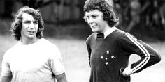 Piazza e Raul participaram da vitória por 4 a 1 sobre o Nacional de Muriaé em novembro de 1974 (Arquivo/Estado de Minas)