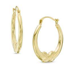 Zales Mesh Textured Hoop Earrings in 10K Gold MjLgZ