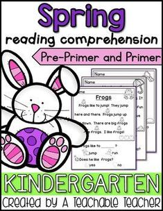Kindergarten Spring Reading Comprehension can be so hard to find! These passages were designed specifically for emergent readers. I wrote these passages using pre-primer and primer sight words. All other words in the text have pictures clues above them. Teaching Sight Words, Teaching Writing, Teaching Ideas, Teaching Phonics, Teaching English, Improve Reading Comprehension, Reading Fluency, Comprehension Activities, Comprehension Questions