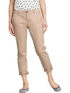 Womens Boyfriend Skinny Khakis- gotta get me some of these for the new school year!