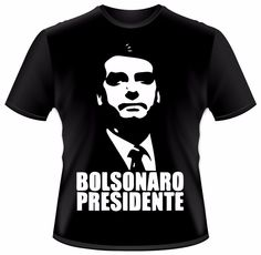 camiseta bolsonaro presidente - preta - vários tamanhos