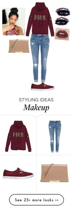 """Untitled #1"" by kenzie-wells-1 on Polyvore featuring River Island, Victoria's Secret PINK, Vans and Michael Kors"