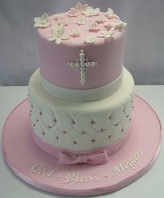 For Evie - Holy Communion cake Religious Cakes, Easter Religious, Girl Cakes, Baby Cakes, Christening Cake Girls, Baptism Cakes, Comunion Cakes, Theme Bapteme, First Holy Communion Cake