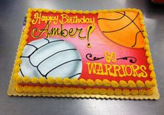 Volleyball and Basketball sheet cake by Stephanie Dillon, LS1 Hy-Vee