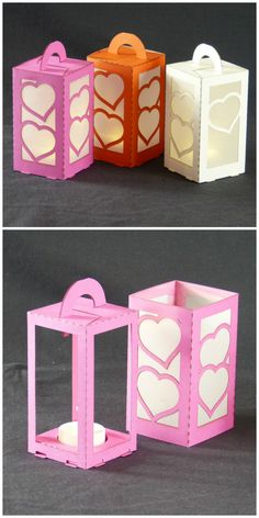 #lasercut paper lanterns with LED tea light.