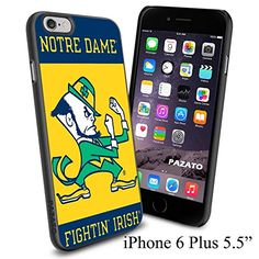 """NCAA NOTHE DAME FIGHTIN' IRISH , Cool iPhone 6 Plus (6+ , 5.5"""") Smartphone Case Cover Collector iphone TPU Rubber Case Black Phoneaholic http://www.amazon.com/dp/B00VVN1CBG/ref=cm_sw_r_pi_dp_OT3nvb1WMHP8R"""