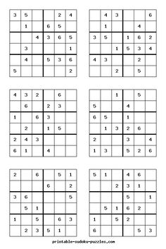 Here are thousands of free Sudoku puzzles to print. Each booklet of printable Sudoku contains eight puzzles, instructions, hints and answers. Printable Puzzles For Kids, Worksheets For Kids, Math Worksheets, Free Printables, Puzzles Für Kinder, Sudoku Puzzles, Logic Puzzles, Kids Puzzles, Hard Puzzles