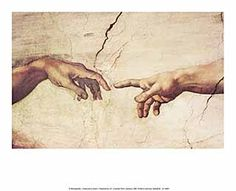 Die Erschaffung Adams Michelangelo Buonarroti - Creazione Di Adamo - Kunstdruck Poster