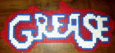 Grease logo perler beads by Tiffany Sheaffer