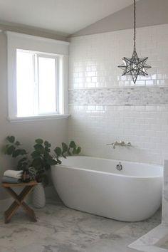 Bathroom with Subway Tiles - Transitional - bathroom - Greige Design #tilebathtub