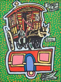 Damian Le Bas, Double Caravan with amigo Gabi Jiménez, 2010 Gabi, Collages, It Works, Paintings, Artist, Paint, Painting Art, Artists, Painting