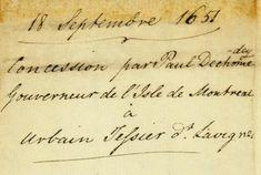 Document (Concession de 30 arpents à Urbain Tessier dit Lavigne) / © Université de Montréal, Service de la gestion des documents et des archives 2008