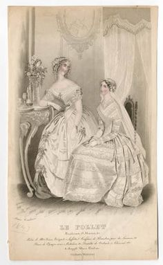 Wedding Plate The Metropolitan Museum of Art, New York. Queen Victoria Wedding Dress, Wedding Plates, Costume Institute, Wedding Album, Fashion Plates, Fashion Prints, Wedding Styles, Vintage Dresses, Victorian