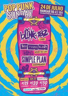 Pop Punk Sunday Flyer on Behance Simple Plan, Arte Hip Hop, Punk Poster, Creative Flyers, Punk Art, Band Posters, Festival Posters, Pop Punk, Creative Industries