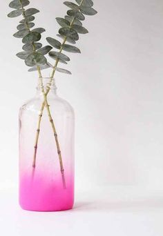 This ombré vase looks like it's magically filling up with pink smoke.