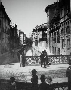 naviglio di via molino delle armi, 1920 circa.