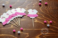 Cupcake topper , baby dress white and pink , baby shower cupcake topper, welcome baby cupcake topper Engagement Photo Props, Engagement Party Decorations, Bridal Shower Decorations, Nautical Banner, Cute Baby Dresses, White Baby Dress, Baby Shower Cupcake Toppers, Welcome Baby, Boutique