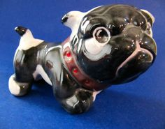 "Pug Dog Figurine Puppy Glazed Ceramic 4"" x 5"" $22.50 #Pug at JustLuvTreasures.com"