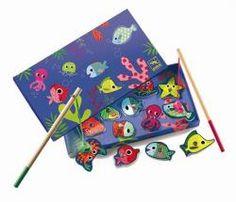 Pêche Magnétique Colorée Jeu d'adresse DJECO Fishing Colour - Djeco DJ01653 - Motricité fine et jeux éducatifs - C'Ki le Roi Bruxelles - boutique + e-shop - jeux, jouets, livres en ligne