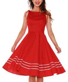Look what I found on #zulily! Red Sabrina Dress - Plus #zulilyfinds