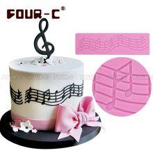 hudba silikonová Hot mat dort silikonová krajka forma fondán dort zdobení dort formy dokončovací práce doprava zdarma (Čína (pevninská část))