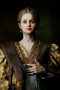 Modern imitation of The Portrait of Antea by Parmigianino. (Model is Alexis Bledel from the Gilmore Girls.)