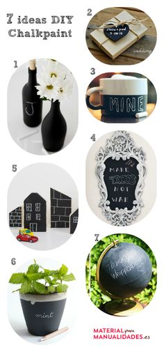 7 ideas DIY para decorar con pintura de pizarra