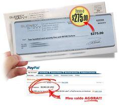 recebendo cheques