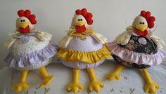 Panos e Contas - artesanatos em tecido: galinhas