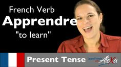 Apprendre (to learn) - Present Tense (French verbs conjugated by Learn F...