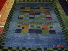 #14: 5 x 7 Persian Gabbeh. Jewel tones, beautiful colors. Sold.