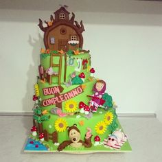 Masha e orso torta cake