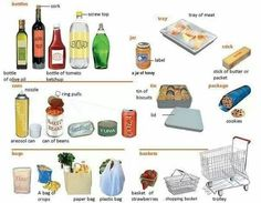 Food containers and the different types English lesson. Learn about the different types of food containers English Fun, English Study, English Words, Learn English, English Tips, English Grammar, American English, English Language, English Phonics