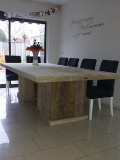 tafel vierkant middenpoot 280 x 140 cm 1