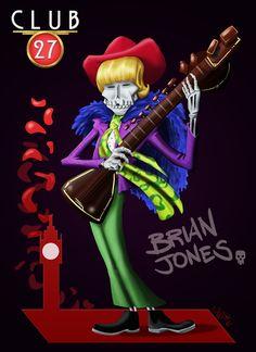 Club 27 Brian Jones, digital paint