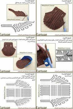 Crochet baby shoes for your newborn Crochet baby shoes, the baby … Crochet Shoes Pattern, Baby Shoes Pattern, Crochet Bebe, Crochet Slippers, Crochet For Kids, Crochet Patterns, Crochet Baby Sandals, Crochet Baby Clothes, Newborn Crochet