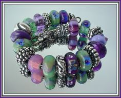 Forever bracelet from Trollbeads Forum.   Purple & green.