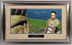 Daisy Ridley Signed Rey Handing Luke Lightsaber 10x20 Photo ( PSA/DNA & SSM)