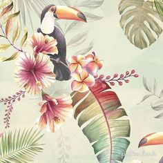 And...here it is! Pastel Tropics pattern. Watercolour seamless pattern with a vintage tropical look. High quality illustrations. Artworks as smart objects for an easy and efficient editing. All elements fully separated in layers. #newonpatternbank #patternbank #tropicalpattern #patternbankdesigner #textiledesigner #surfacedesign @patternbank IG: @shock.patterndesign