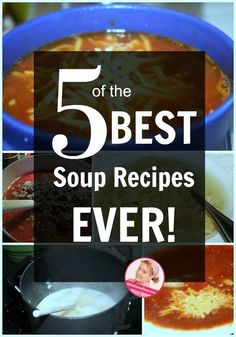 Five of my favorite soup recipes in one place! Fall is the perfect time to add soup to your family meal planning. You'll defiantly want to save these recipes to use them again and again! Family Meal Planning, Menu Planning, Family Meals, A Slob Comes Clean, Best Potato Soup, Best Soup Recipes, Freezer Cooking, Pressure Cooking, Slow Cooker