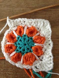 Spring flower granny square     #inspiration #crochet