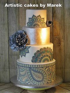 Wedding cakes by Marek - http://cakesdecor.com/cakes/305599-wedding-cakes