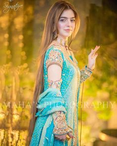 Pakistani bride on her dholki day Pakistani Wedding Outfits, Pakistani Dresses, Indian Dresses, Eastern Dresses, Mehndi Dress, Bridal Blouse Designs, Dress Designs, Pakistan Fashion, Indian Designer Outfits