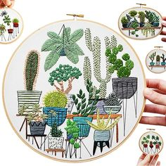 Stunning Plant Embroidery by Sarah K. Benning....