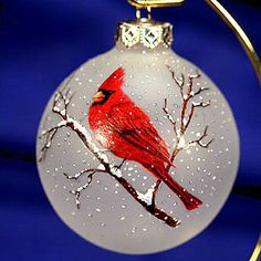 christmas ornament can also be paint on a round rock