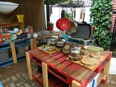 Outdoor Spaces for your Home Based Childcare Home Childcare, Home Daycare, Daycare Setup, Daycare Ideas, Outdoor Learning Spaces, Outdoor Spaces, Outdoor Fun, Daycare Spaces, Mud Kitchen