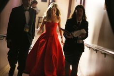Jennifer Aniston backstage at the #Oscars Lets just take a minute to acknowledge how fabulous her dress is..