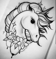 Unicorn Tattoo Born This Way